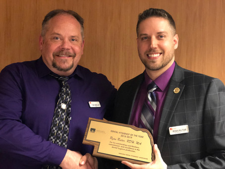 First Male in Nebraska to receive Nebraska Dental Hygienist of the Year Award.