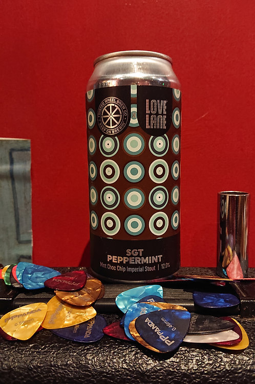 SGT Peppermint. Mint Choc Chip Imperial Stout. Twisted Wheel/Love Lane. 12%