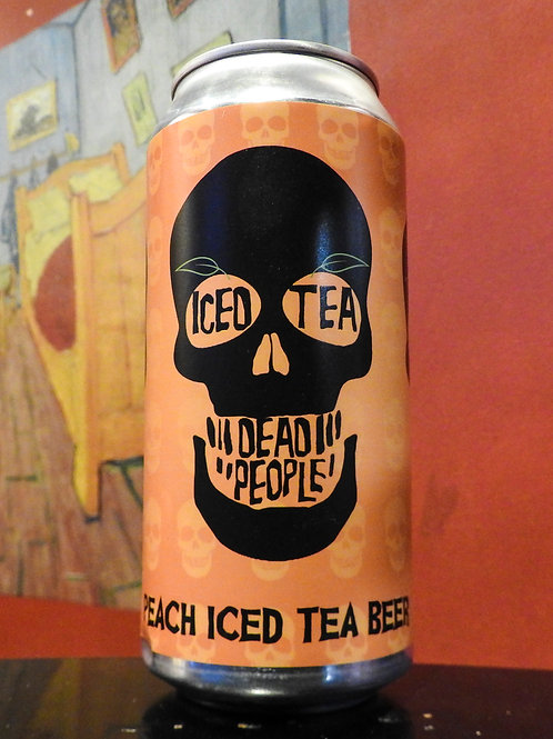 Iced Tea Dead People: Peach Iced Tea Beer. Abbeydale Brewery, 4.6%