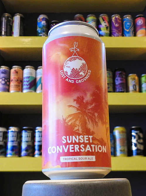 Sunset Conversation: Tropical Sour. Lost And Grounded. 4.8%