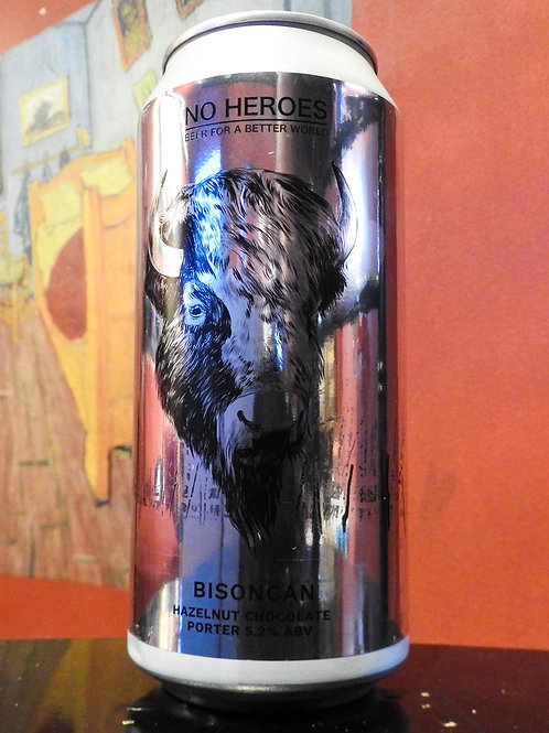 Bisoncan: Hazelnut Chocolate Porter, No Heroes Brewing. 5.2%