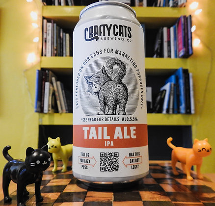 Tail Ale IPA Crafty Cats  Brewing Co. 5.5%