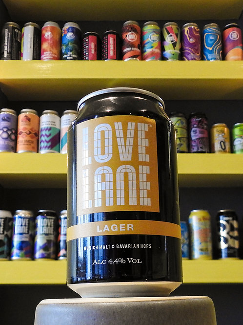 Love Lane Lager. 4.4%