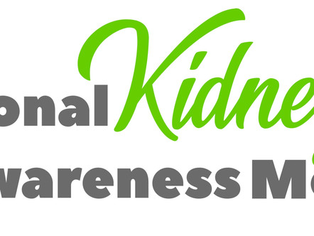 Children and Kidney Disease, this March we bring awareness to Kidneys!