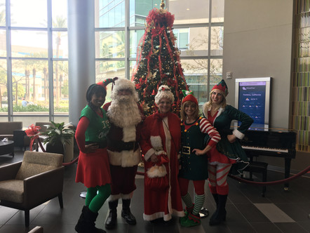 Santa Delivered Toys to Kids in the Hospital with some special help!