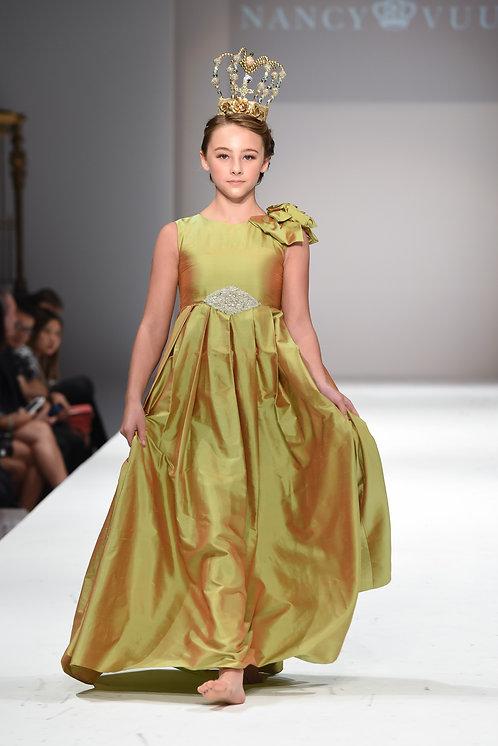 Silk Green Gown