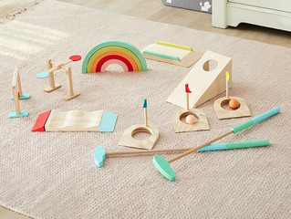 Wonder & Wise by Asweets Wooden Toddler Mini Golf Set