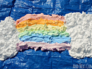 Shaving Cream Rainbow - Sensory Play