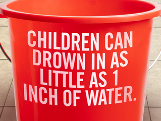 Drowning kills more kids ages 1-4 than any other cause.