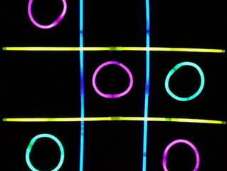 Glow Stick Tic-Tac-Toe