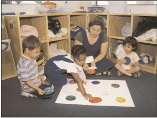 Teach colors with homemade circles
