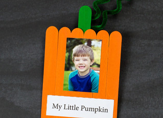 HOW TO MAKE A SWEET POPSICLE STICK PUMPKIN KEEPSAKE