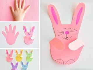 Handprint Bunnies | Paper Handprint Bunny Craft