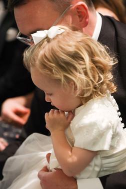 Flower Girl Praying