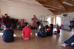 Sandown School Storytelling Cafe and Kat