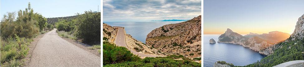 Cycling road Mallorca, view