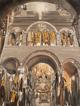 Church of Pisa, Italy V, 2013, oil on linen, 150x112cm. Private collection