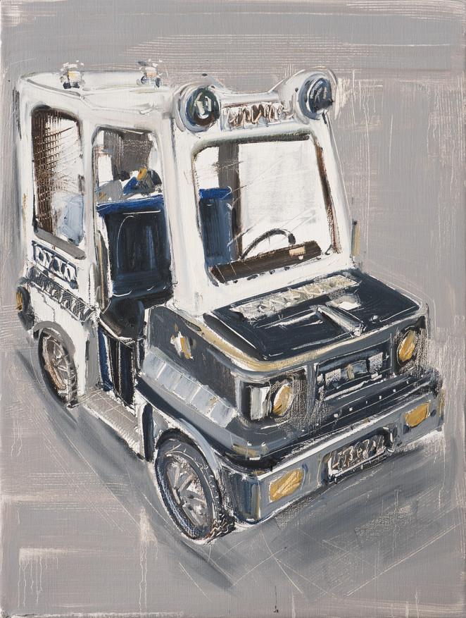 Ambulance, 2011, oil on jute canvas, 122x92cm