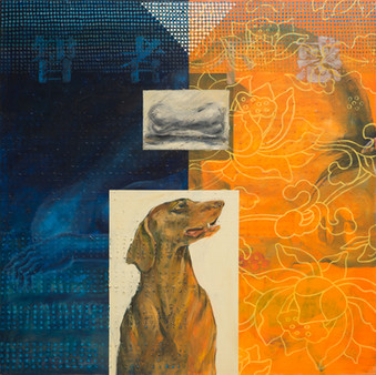 Watchdog II, 2001, oil on canvas, 130x130cm