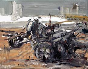 Boom #3, 2009, oil  on canvas, 36x46cm