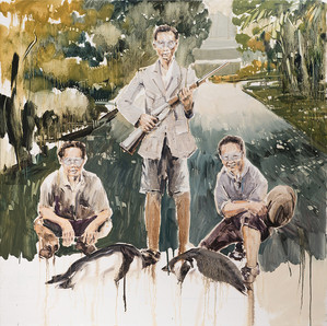 The Gate Keepers, 2014, oil on linen, 150x150cm