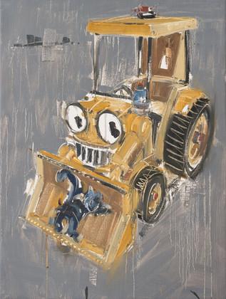 Bull Dozer, 2011, oil on jute canvas, 122x92cm