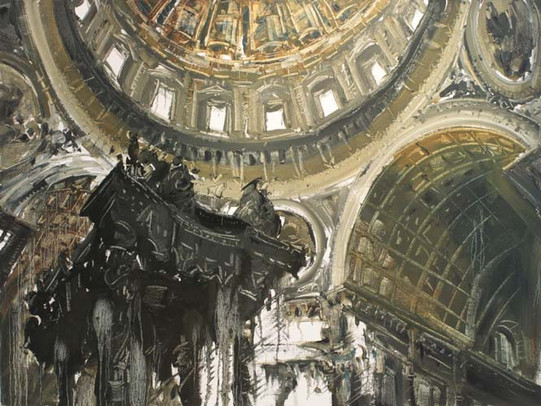 Saint Peter's Basilica VIII, Rome. 2010, oil on linen, 112.5x150cm. Private collection.