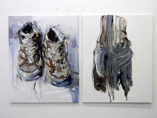 Boots & gloves. 2011, oil on canvas, 76x61cm each