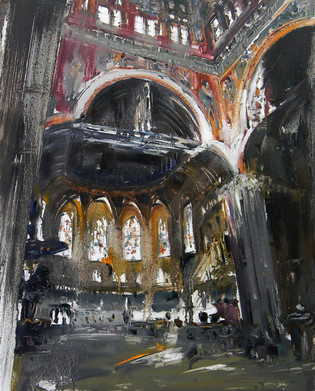 Trinity Church, Boston, USA, 2011, oil on canvas, 76x61cm.