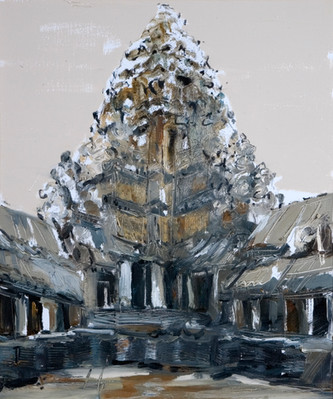 Angkor Wat #3, 2008, oil on canvas, 61x46cm. Nanyang Academy of Fine Arts collection. Image courtesy of Nanyang Academy of Fine Arts
