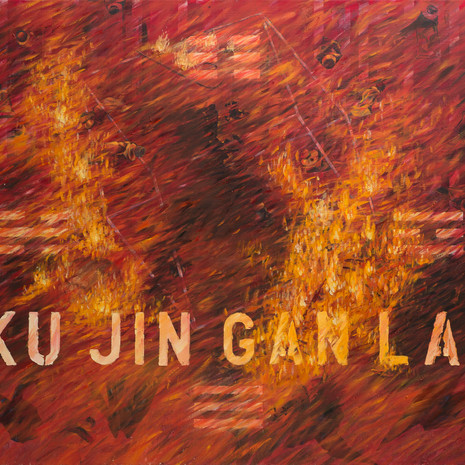 Ku Jin Gan Lai, 2000, oil and acrylic on canvas, 130x150cm.