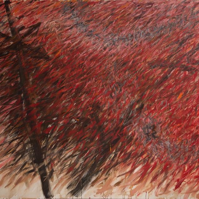 Crossroads, 1995, acrylic on canvas, 208x190cm.
