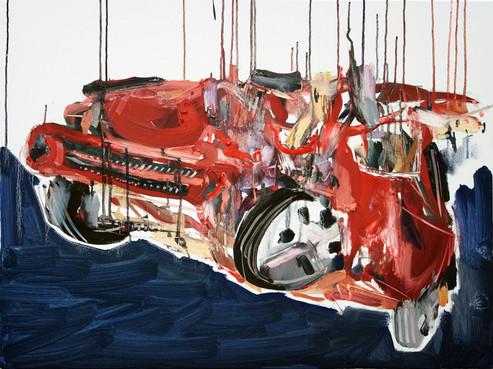 Crash #6, 2014, oil on canvas, 60x80cm