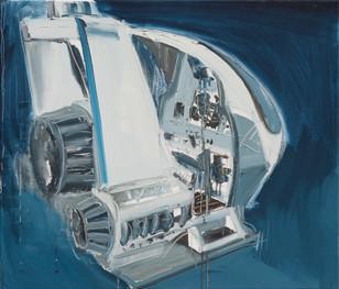 Space Shuttle II, 2012, oil on canvas, 60x70cm