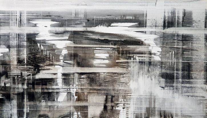 In-Between Places #4, 2019, oil on linen, 80x140cm