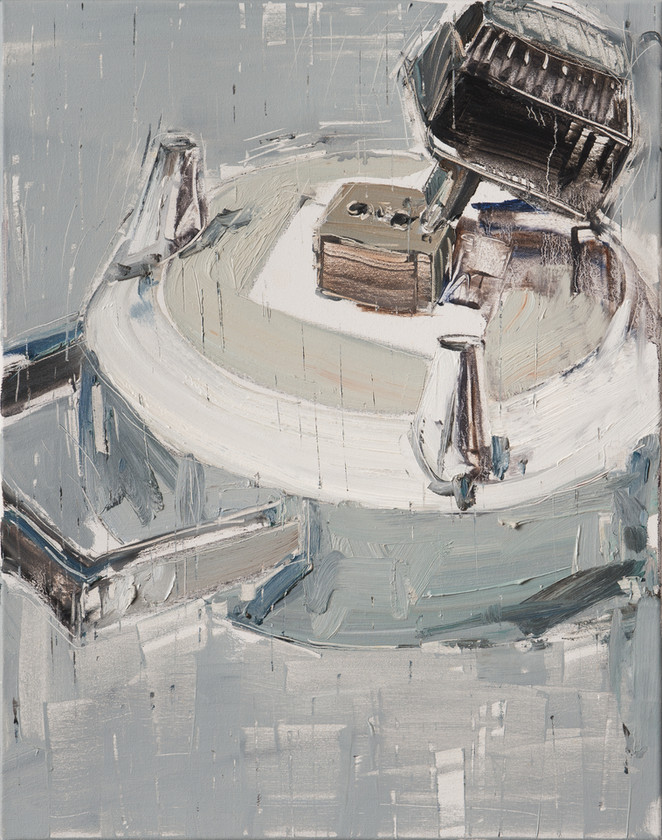 Extension Cord #2, 2011, oil on canvas, 71x56cm