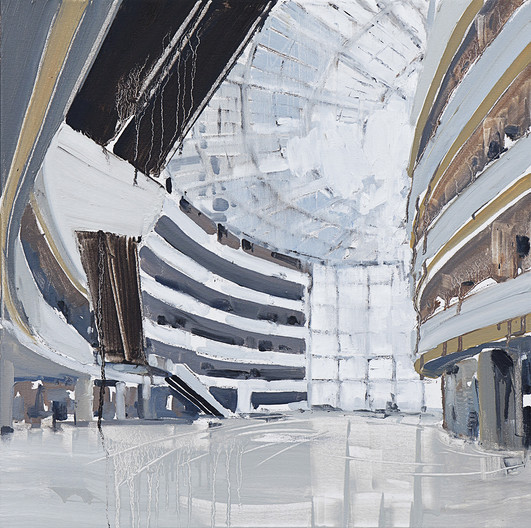 The Mall #30 (Times Square, Seoul, South Korea), 2011, oil on canvas, 61x611cm. Private collection