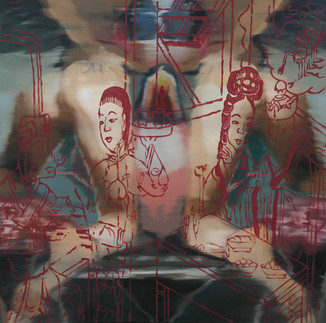 Fallen Angels, 2005, oil on canvas, 130x130cm. Private collection