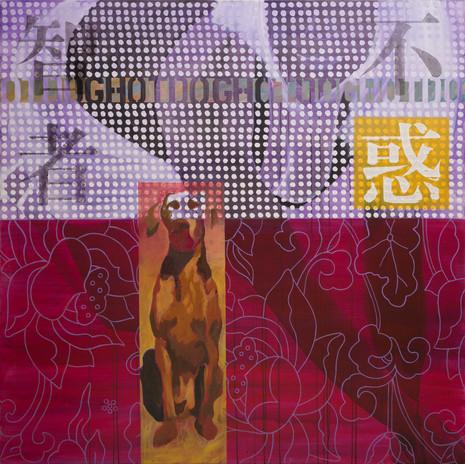 Watchdog I, 2001, acrylic on canvas, 150x150cm