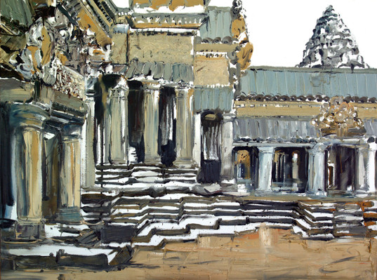 Angkor Wat #2,  2008, 92x122cm, oil on canvas. Private collection