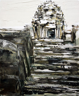Ankor Wat #4, 2008, oil on canvas, 61x46cm. Private collection