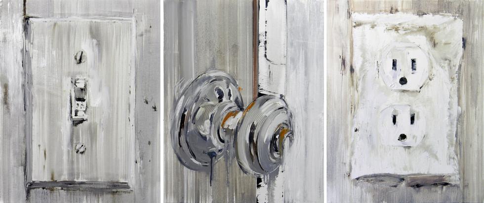 Trinity, 2011, oil on canvas, 71x56cm each
