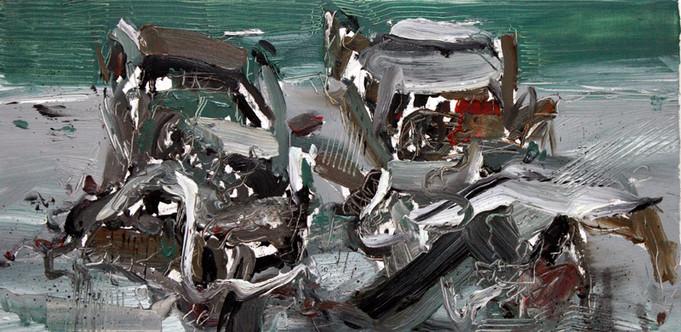 Boom #6, 2009, oil on canvas, 30.5x61cm