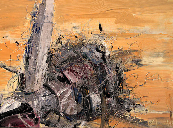 Boom #11. 2009, oil on canvas, 46x61cm. Private collection