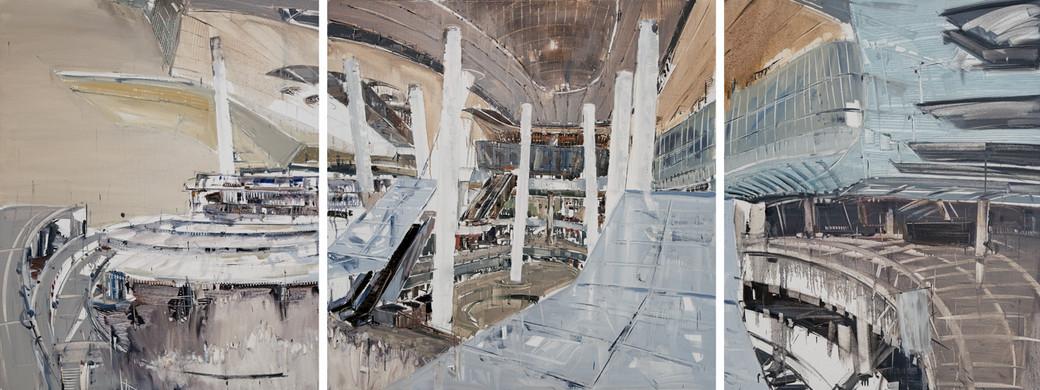 Star Vista II, 2013, oil on canvas, 150x390cm,triptych
