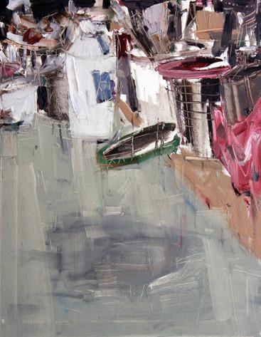 Work Table, 2011, oil on canvas, 77x60cm