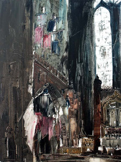 Liverpool Cathedral, UK (I), 2010, oil on jute canvas, 122x92cm. Private collection