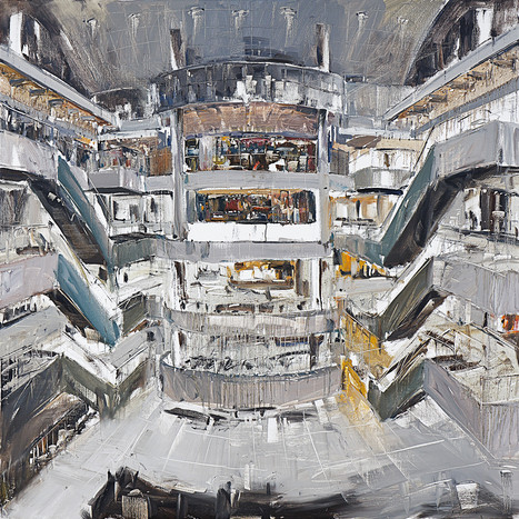 The Mall #25 (Paragon, Singapore). 2011. Oil on canvas, 201 x 201 x 4.7 cm. Singapore Istana Art Collection.