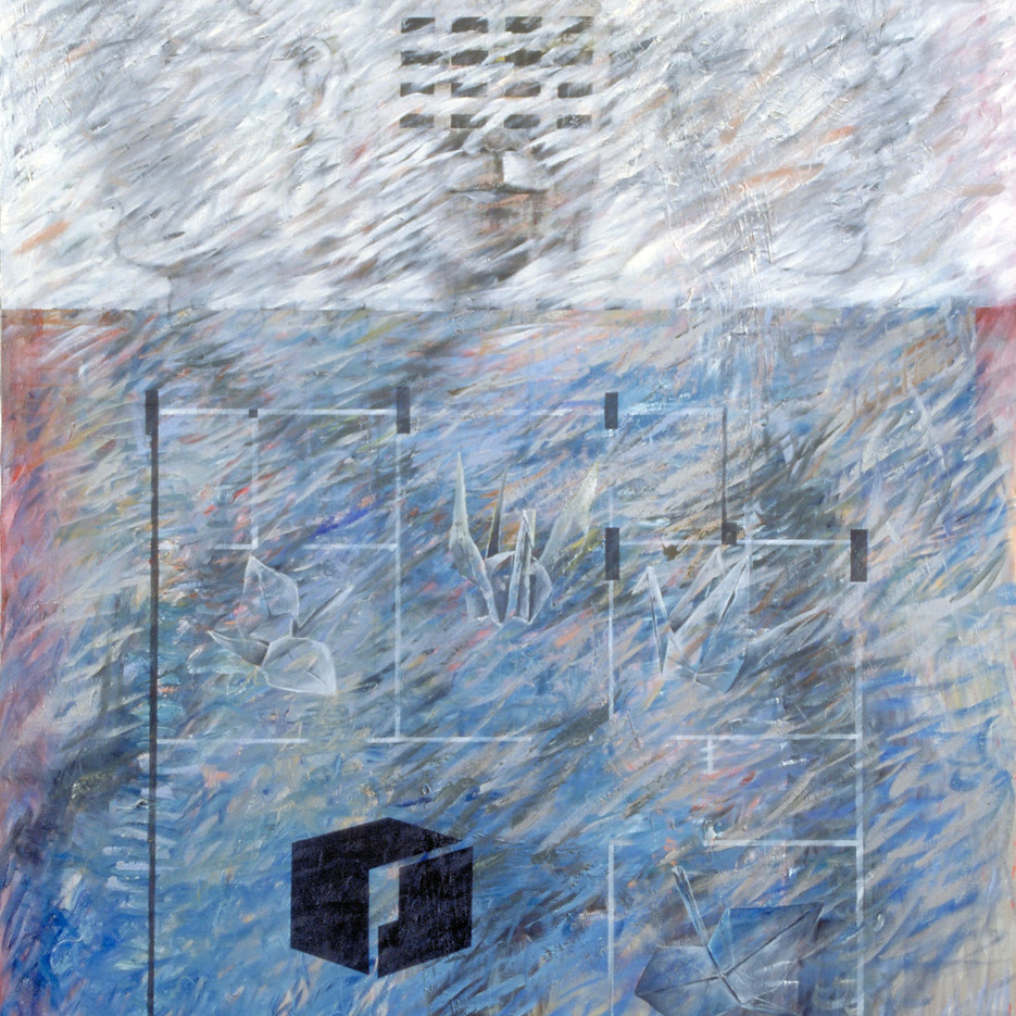 One Hundred Square Meter, 1997, oil on canvas, 150x200cm, collection Singapore Art Museum