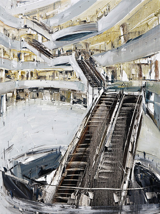 The Mall #29, 2011, oil on jute canvas, 200x150cm. Private collection